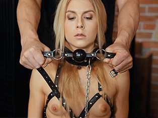 Dude fucks tied up slave