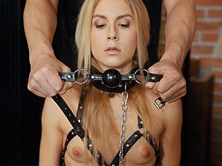 Dude fucks tied up slave